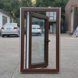 Двойное бортовое цветастое окно Casement профиля UPVC с специальным краем K02044