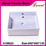 Мытье руки формы Moden фарфора ванной комнаты квадратное над тазиком