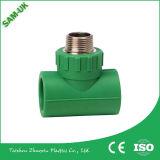 "Zhejiang Manufacturing Company 1/2 2 "" 관 이음쇠를 위한 PPR 남성 티"
