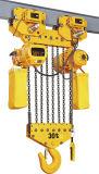 Grue à chaînes sans fin électrique employée couramment de 1 tonne