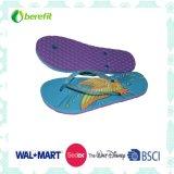 Slippers das mulheres, Bright Printing com EVA Sole e PVC Straps