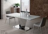 A tabela de jantar elegante de mármore moderna de Brown da classe elevada ajusta-se (NK-DT228-1)