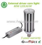 외부 운전사 LED 옥수수 빛 120lm/W IP64 보장 5 년