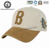 Gorra de béisbol al por mayor 100% del golf del algodón del panel del algodón 6 de la alta calidad con insignia del bordado