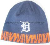 冬のジャカードによって編まれる帽子か帽子は、暖かい帽子を作る
