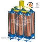 Terminar a rampa espiral de equipamento de processamento do minério do estanho