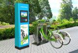 Coluna Bicicleta-Inoxidável pública do dobro do fechamento da tubulação de aço única