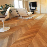 Plancher en bois conçu par parquet de Chevron de chêne blanc