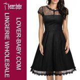 Rétro plus le procès de robe de dames de taille (L36109-1)