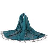 Sciarpa di Shwal del cotone di Paisley del jacquard delle donne