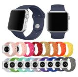 Pulsera de silicona reloj de pulsera inteligente con conector para Apple Watch 38 / 42mm
