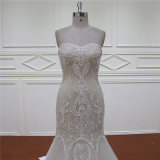 Zware Kralen Champagne Mermaid Bridal Dress
