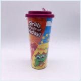Tasses à café en plastique colorées jetables 12oz / 16 oz pour promotion