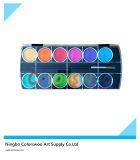 12 kleur 3.0cm Classic Water Color Cake met Brush voor Painting en Drawing