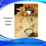 Silberne goldene Farben-Metallkerze-Halter für Weihnachten