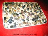 Misturado Cor Custom Floor Mat Pedra decorativa
