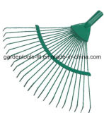 15 Zähne Adjustable Steel Garten Rake mit Telescopic Aluminum Handle