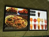 Ristorante Acrylic Magnetic Panel Advertizing Light Box per Menu Board