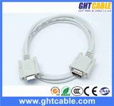 Câble masculin/femelle du VGA de l'en cuivre 3+4
