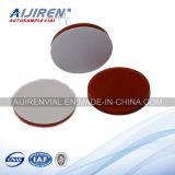 9mm White PTFE/Red Silicone Septa, Used für Lab Bottles, HPLC Vials