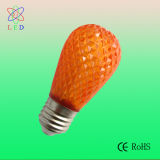호박색 LED S14 Faceted 0.5W LED S14 E27 Christmas Light Bulbs