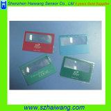 Plastic Draagbaar Vergrootglas met Aangepaste Kaart hw-802 van Magnifier van de Zak van het Embleem