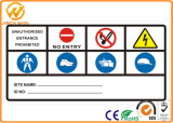 Алюминиевая плита подгоняет предупредительные знаки движения печатание отражательные