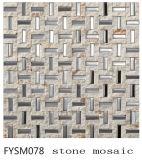Strainless 강철 혼합 성격 건축재료 대리석 모자이크 바닥 돌 도와 (FYSM078)