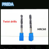 Herramientas del taladro de torcedura del carburo HRC60 para el funcionamiento del metal