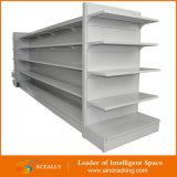 Doppeltes versah mittleres Aufgaben-Metallspeicher-Supermarkt-Regal mit Seiten