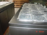 Aço inoxidável sob a barra Refrigerated Worktop contrária da salada