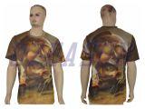 Vêtements de sport faits sur commande de T-shirt de sublimation/de T-shirt Subliamtion de qualité