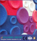 El panel acústico interior de la fibra de poliester de la decoración de la pared 3D