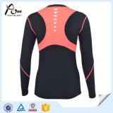 Usura lunga di forma fisica delle donne della maglietta del manicotto di Dacron Elastane