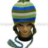 昇進の冬の暖かいアクリルの編まれた帽子の帽子か帽子