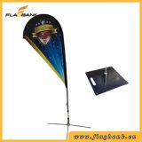 bandeira do vôo da impressão de Digitas da fibra de vidro do Tradeshow de 2.8m/bandeira do Teardrop
