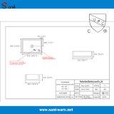 Certificação de Cupc bacia cerâmica do quadrado da parte superior contrária de 20 polegadas (SN104)