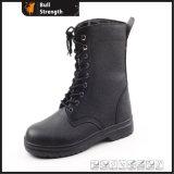 Черная кожаный армия Boots воинские ботинки боя Sn5118