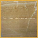Onyx amarillo natural Polished del mármol de la miel para las losas, azulejos, mosaicos