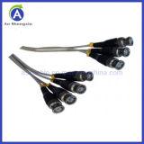 Mann 4 bis 4 Male BNC Cable für CCTV Camera