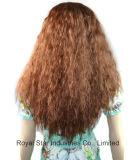 女性のニースの長く自然で緩い波のかつらの総合的な毛のかつら