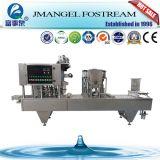 Máquina de relleno del lacre del plástico K de la taza del yogur de la jalea de la taza rotatoria automática del agua