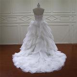 Сексуальные шикарные длинние платья венчания шнурка Organza