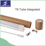 유백색 모양 T5 T8 알루미늄 소성 물질 LED 관 빛