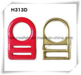 Double clip D en acier modifié de fente du placage de zinc