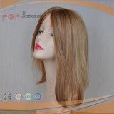 Menschenhaar-blonde Monospitzenhand gebundene Breathable vordere Spitze-Perücke 100%