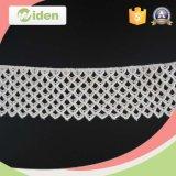 Laço bordado do produto químico do algodão do laço do cabo da tela do laço da guipura