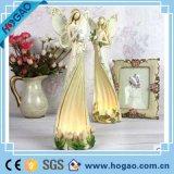 Sostenedor de vela tablero del ángel de la resina del nuevo diseño para la decoración casera