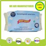 Eco freundlicher natürlicher Plastikkappen-Arbeitsweg, der alkoholfreien Baby-Wischer packt