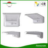 motie van de Lamp van de Tuin van de Muur van de Macht van het LEIDENE 20PCS SMD 2835 ABS+ Zonnepaneel van het Aluminium de Lichte Openlucht + de Correcte ZonneLamp van de Controle van de Sensor